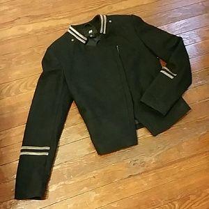 Military Style Wool Blazer Jacket